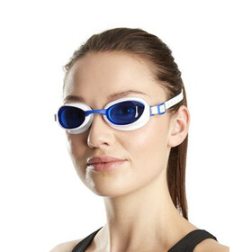 speedo Aquapure Goggles white/blue
